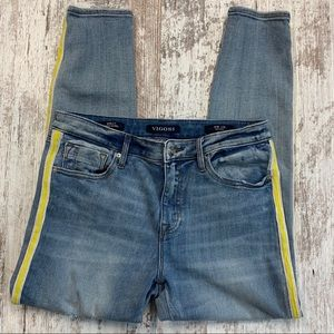 Vigoss Marley tuxedo stripe super skinny Jeans